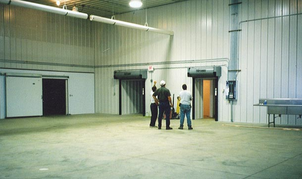 Construction of the new production facility at Dutchland Frozen Foods
